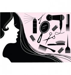make up hair vector image