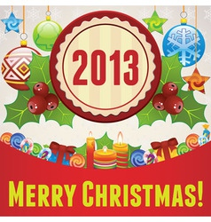 merry christmas 2 vector image