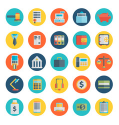 Modern design flat icon set style of financial vector