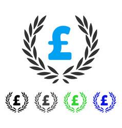 Pound laurel wreath flat icon vector