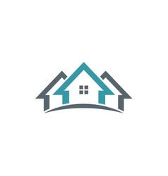 Realty home company logo vector
