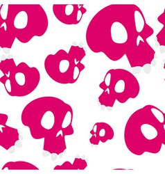Red skulls seamless vector