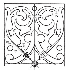 Renaissance oblong panel is a design found on a vector