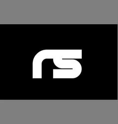 rs r s black white bold joint letter logo vector image vector image