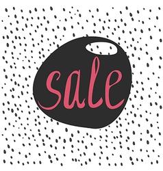 Sale lettering lable vector