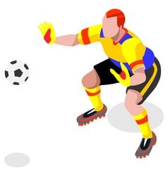 Soccer goalkeeper 2016 sports isometric vector