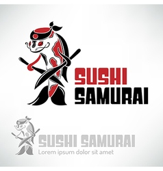 Sushi logo design vector