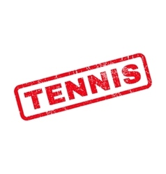 Tennis Rubber Stamp vector image vector image