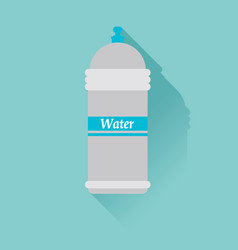 water bottle flat design with shadow use for card vector image vector image