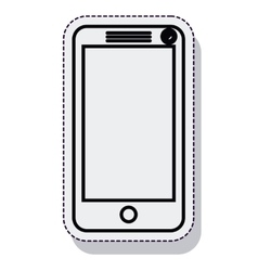 Smartphone technology isolated icon vector