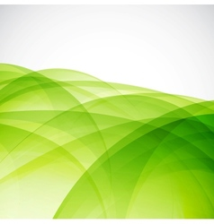 Green eco wave vector image
