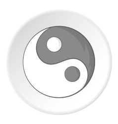 Sign yin yang icon cartoon style vector