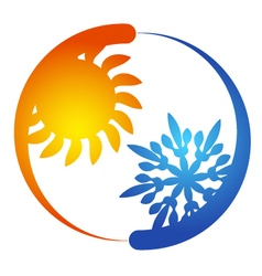 Air conditioning blowing vector image