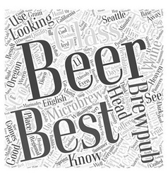 Brewpub heaven word cloud concept vector