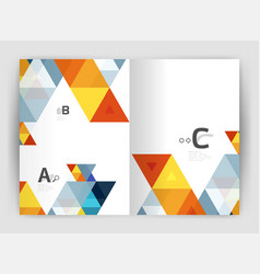 abstract background with color triangles annual vector image