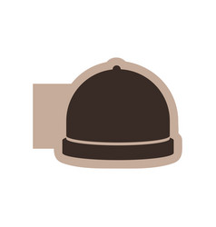 color emblem with silhouette cloche food vector image