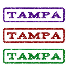 tampa watermark stamp vector image
