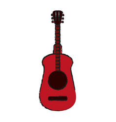 guitar draw vector image