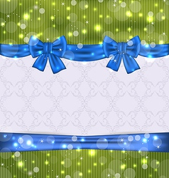 Christmas background with ribbon bows vector image