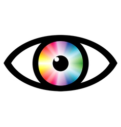 Color swatch eye vector