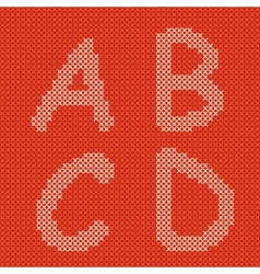 Embroidering alphabet vector