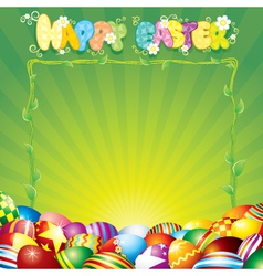 easter background for your text or design vector image
