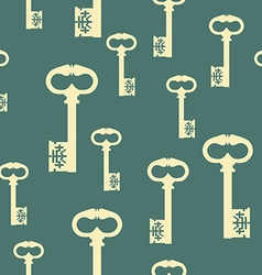 Pattern with antique keys vector image