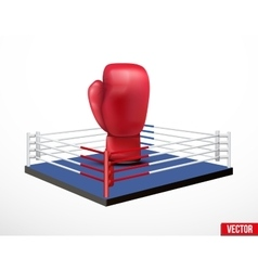 Symbol of a boxing and prize ring vector