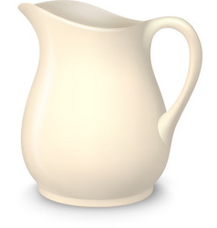 Ceramic pitcher isolated vector