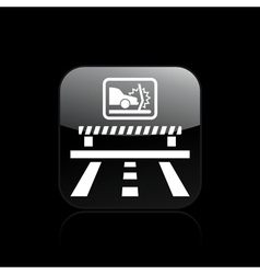 Crash car icon vector