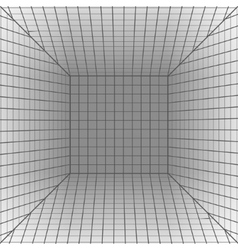 Background with a perspective grid vector