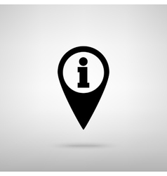 Map pointer with information icon vector