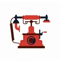 Colorful retro phone design vector