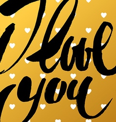 I love you template vector image