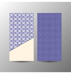 Vertical blue floral banner template vector