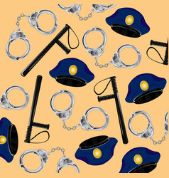 Accessories of the workman to police bodies vector