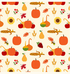 Autumn harvest pattern vector
