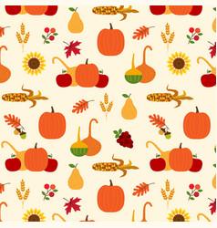 autumn harvest pattern vector image