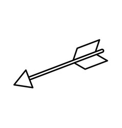 bow arrow isolated vector image vector image