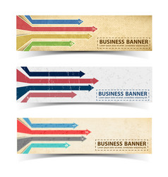 business retro horizontal banners vector image vector image