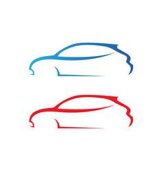 Car silhouette logo template icons app vector