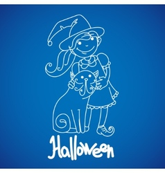Children dressed to celebrate halloween vector