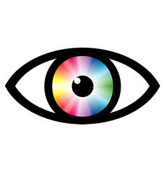 Color swatch eye vector