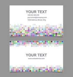 Colorful mosaic business card template design vector