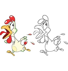 Cute Cockerel Cartoon Character vector image vector image