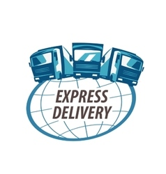 Delivery logo design template traffic or vector