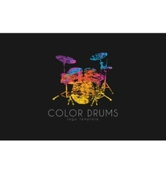 Drums logo color music logo music logo logo in vector