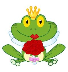 Frog Bride vector image