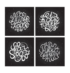 Hand-sketched typographic elements on chalkboard vector