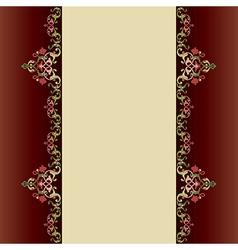 Invitation card with islamic decor vector